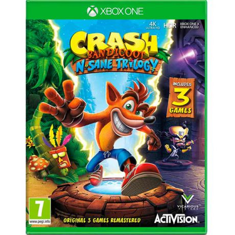 Видеоигра для Xbox One . Crash Bandicoot N?sane Trilogy