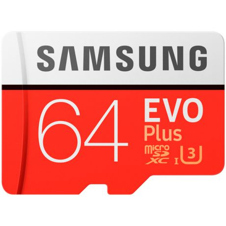 Карта памяти SDHC Micro Samsung 64GB EVO PLUS (MB-MC64GA/RU)