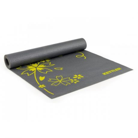 Мат для йоги Kettler Basic Yoga Mat 7373-150, т.сер/желт.
