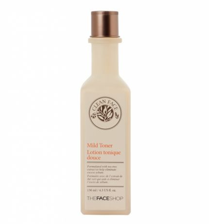 Тонер с маслом чайного дерева для жирной кожи The Face Shop Clean Face Mild Toner