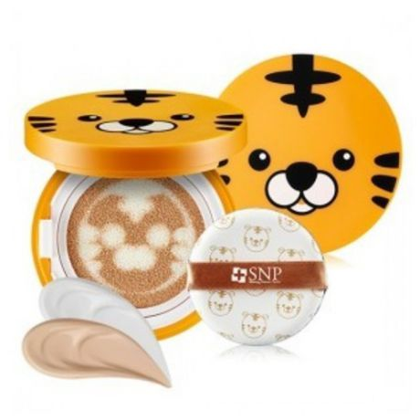 Тональная основа-кушон SNP Animal Tiger Long Lasting Cover Cushion