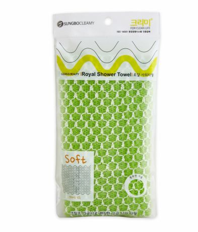 Мочалка средней жесткости Sungbo Cleamy Clean and Beauty Royal Shower Towel (28x90)