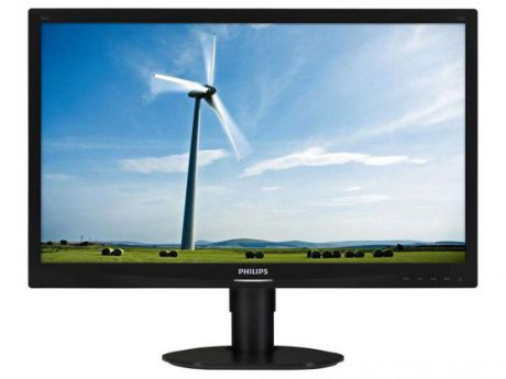 "Монитор 24"" Philips 241S4LCB черный TN 1920x1080 250 cd/m^2 5 ms DVI VGA"
