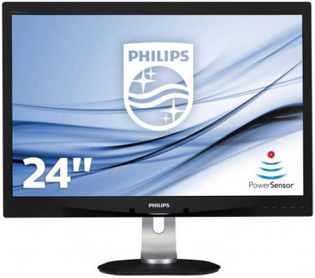 "Монитор 24"" Philips 240B4QPYEB серебристый черный PLS 1920x1200 250 cd/m^2 5 ms DVI VGA DisplayPort USB Аудио"