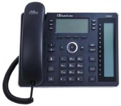 Телефон IP AudioCodes 440HD IP-Phone PoE GbE and external power supply черный