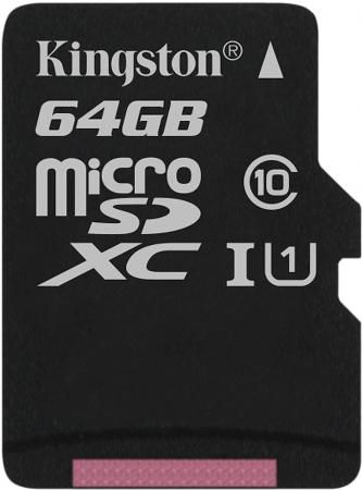 Карта памяти MicroSDXC 64GB Kingston Canvas Select 80R CL10 UHS-ISP без адаптера (SDCS/64GBSP)