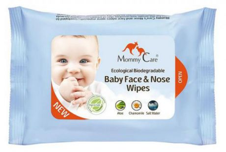 Салфетки влажные Mommy Care Nose and face wipers 24 шт для лица детские