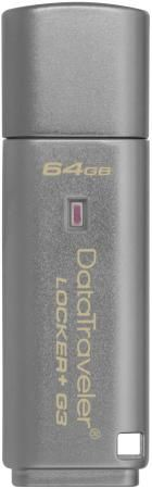 Флешка USB 64Gb Kingston DataTraveler LPG2 DTLPG3/64GB серебристый Locker+G3