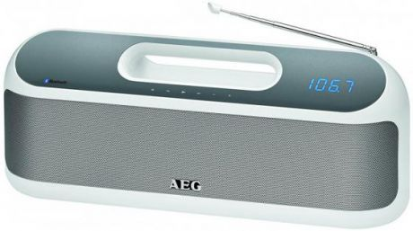 Портативная колонка AEG SR 4842 BTS White Bluetooth, FM, mini Jack, Power Bank, батарея