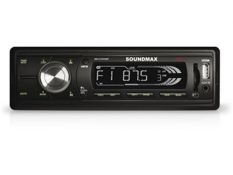Автомагнитола Soundmax SM-CCR3048F бездисковая USB MP3 FM SD MMC 1DIN 4x45Вт черный