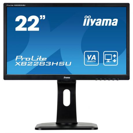 "Монитор 21.5"" iiYama XB2283HSU-B1DP черный VA 1920x1080 250 cd/m^2 5 ms DVI VGA Аудио DisplayPort US"