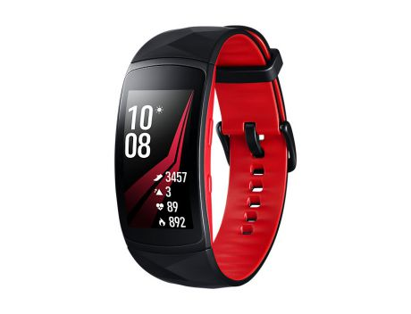 "Смарт-часы Samsung Galaxy Gear Fit 2 Pro 1.5"" Super AMOLED черный/красный SM-R365NZRASER"