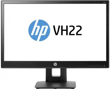 "Монитор 21.5"" HP VH22 черный TN 1920x1080 250 cd/m^2 5 ms DVI VGA DisplayPort X0N05AA"