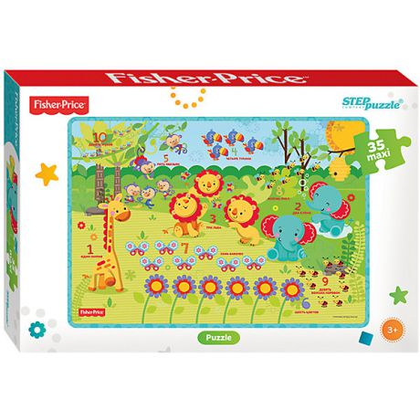 "Степ Пазл Пазл Maxi Step Puzzle ""Fisher Price"", 35 элементов"