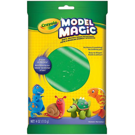 Crayola Застывающий пластилин Crayola Model Magic, зеленый 113 гр