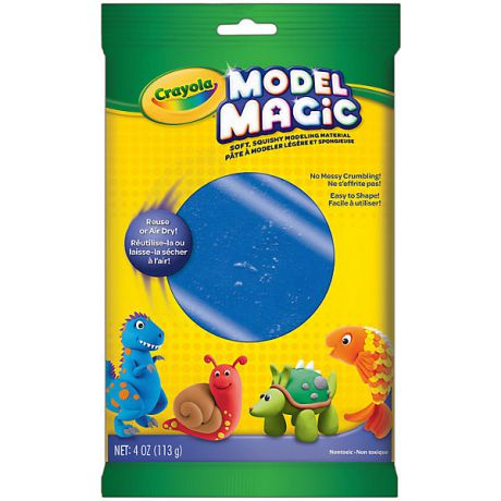 Crayola Застывающий пластилин Crayola Model Magic, синий 113 гр