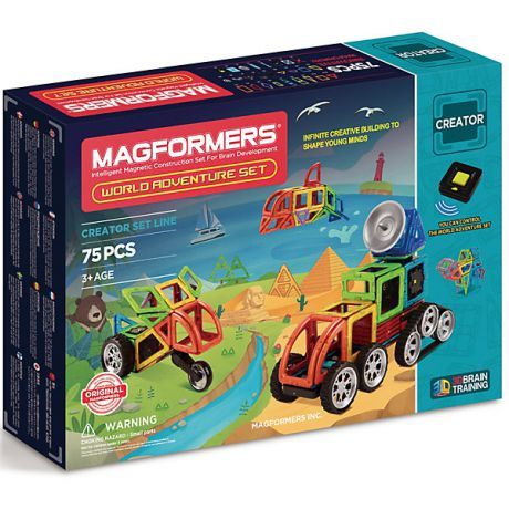 MAGFORMERS Магнитный конструктор 703013 Adventure World set, MAGFORMERS