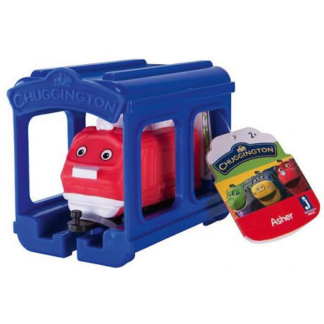 Jazwares Паровозик Jazwares Chuggington, Ашер с гаражом