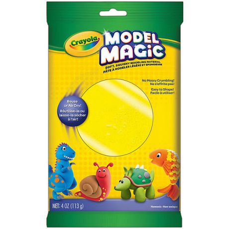 Crayola Застывающий пластилин Crayola Model Magic, желтый 113 гр