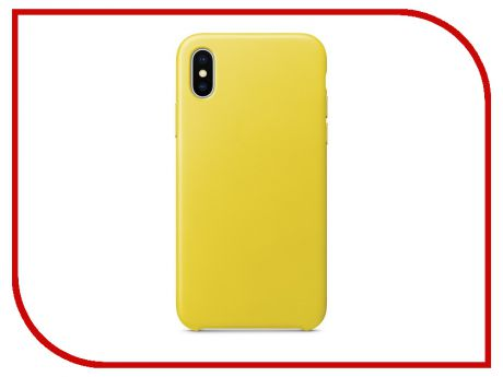 Аксессуар Чехол APPLE iPhone X Leather Case Spring Yellow MRGJ2ZM/A