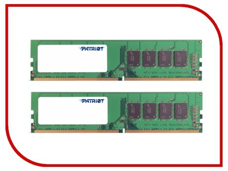 Модуль памяти Patriot Memory DDR4 DIMM 2133MHz PC4-17000 - 8Gb KIT (2x4Gb) PSD48G2133K