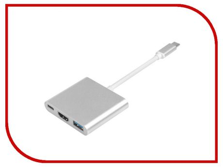Адаптер Greenconnect USB Type-C - HDMI / USB 3.0 GCR-AP24