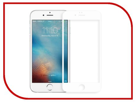 Аксессуар Защитное стекло Red Line Full Screen 3D Tempered Glass для APPLE iPhone 7 / 8 4.7 White УТ000014071