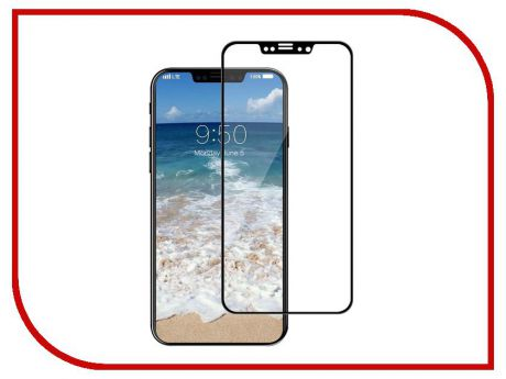 Аксессуар Защитное стекло Red Line Full Screen Tempered Glass Matte для APPLE iPhone X / XS Black УТ000012295