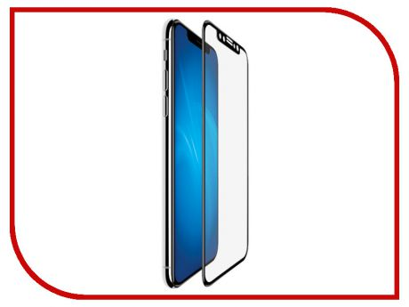 Аксессуар Защитное стекло Red Line Full Screen 3D Tempered Glass Full Glue для APPLE iPhone XR Black УТ000016082