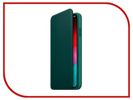 Аксессуар Чехол APPLE iPhone XS Max Leather Folio Forest Green MRX42ZM/A