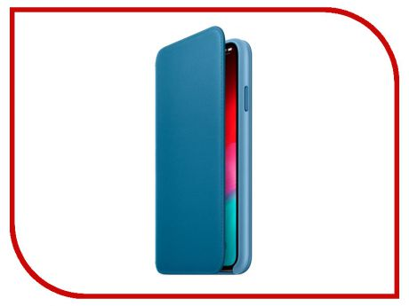 Аксессуар Чехол APPLE iPhone XS Max Leather Folio Cape Cod Blue MRX52ZM/A