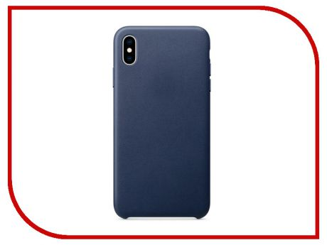 Аксессуар Чехол APPLE iPhone XS Max Leather Case Midnight Blue MRWU2ZM/A