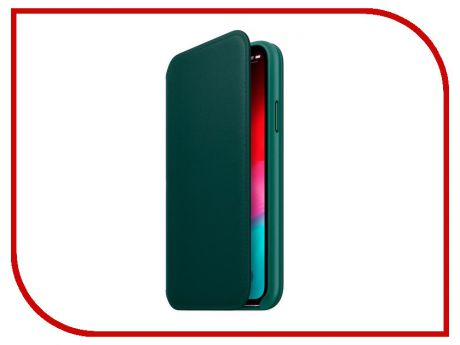 Аксессуар Чехол APPLE iPhone XS Leather Folio Forest Green MRWY2ZM/A