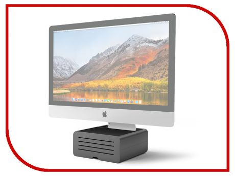 Аксессуар Подставка Twelve South HiRise Pro для iMac / Apple Display Black-Silver 12-1719