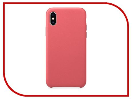 Аксессуар Чехол APPLE iPhone XS Leather Case Peony Pink MTEU2ZM/A