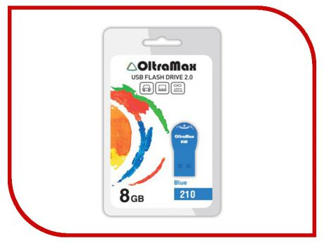 USB Flash Drive 8Gb - OltraMax 210 OM-8GB-210-Blue