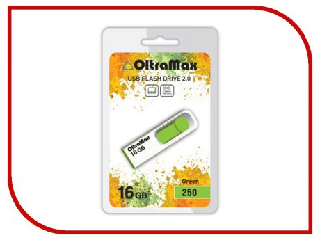USB Flash Drive 16Gb - OltraMax 250 OM-16GB-250-Green