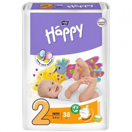 Подгузники Bella Baby Happy start 2 (3-6 кг) 38 шт