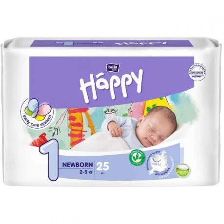 Подгузники Bella Baby Happy start 1 (2-5 кг) 25 шт