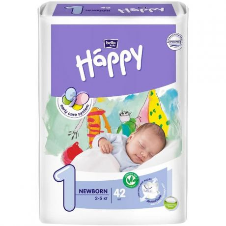 Подгузники Bella Baby Happy start 1 (2-5 кг) 42 шт