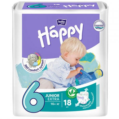 Подгузники Bella Baby Happy adventure 6 (16+ кг) 18 шт