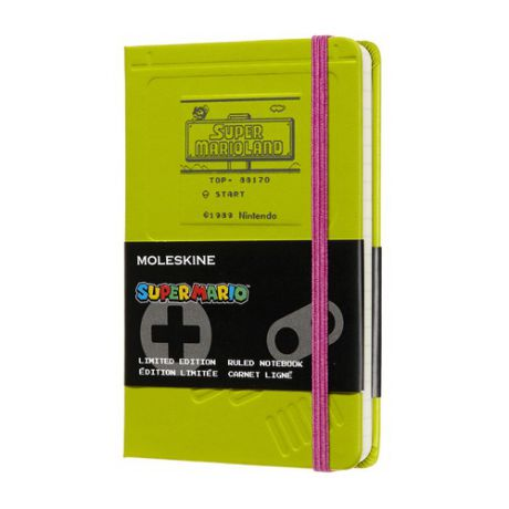 Блокнот Moleskine Limited Edition Super Mario Pocket 90x140мм 192стр. линейка зеленый Game Boy 12 шт./кор.