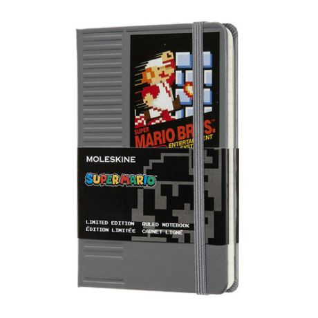 Блокнот Moleskine Limited Edition Super Mario Pocket 90x140мм 192стр. линейка серый Nes Cartridge 12 шт./кор.