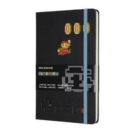 Блокнот Moleskine Limited Edition Super Mario Large 130х210мм 240стр. линейка черный Mario in Motion 9 шт./кор.