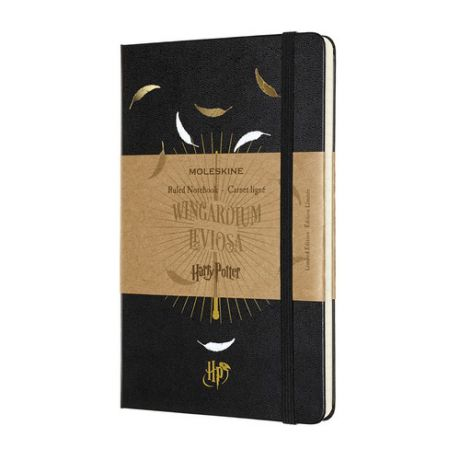 Блокнот Moleskine Limited Edition Harry Potter Large 130х210мм 240стр. линейка черный Leviosa 9 шт./кор.