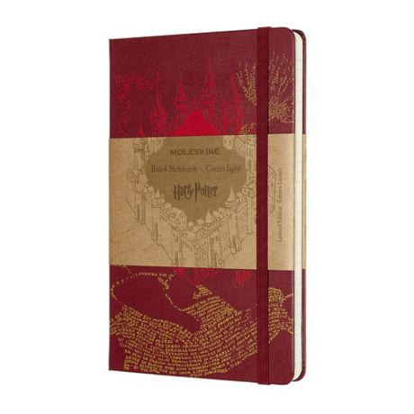 Блокнот Moleskine Limited Edition Harry Potter Large 130х210мм 240стр. линейка красный Map Red 9 шт./кор.