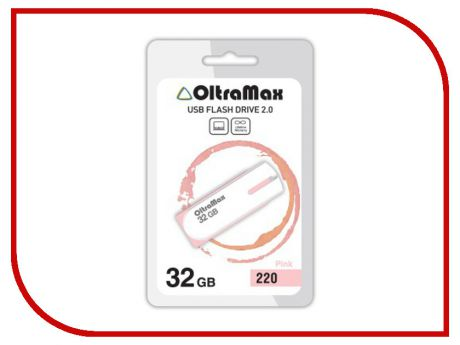 USB Flash Drive 32Gb - OltraMax 220 OM-32GB-220-Pink