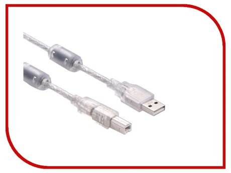 Аксессуар Greenconnect Premium USB 2.0 AM-BM Transparent GCR-UPC2M-BD2S-1.8m