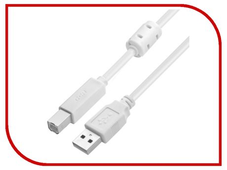 Аксессуар Greenconnect Premium USB 2.0 AM - BM 1.0m White GCR-UPC6M-BC2S-F-1.0m