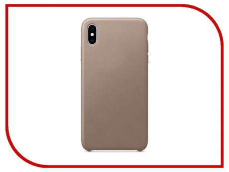 Аксессуар Чехол APPLE iPhone XS Max Leather Case Taupe MRWR2ZM/A